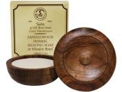 Taylor of Old Bond Street Sandalwood Shaving Soap in Wooden Bowl