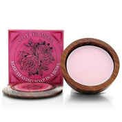 Geo F. Trumper Rose Shaving Soap with Wooden Bowl