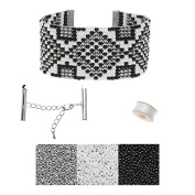 Refill - Gatsby Loom Bracelet - Silver - Exclusive Beadaholique Jewellery Kit