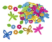 Fibre-Craft Butterflies & Dragons Foam Stickers, 60ml
