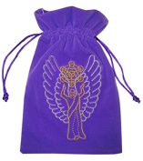 Find Something Different Unisex-Child Archangel Metatrontarot Luxury Velvet 18x13cm Purse