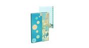 Punch Studio Unique and Beautiful Magnetic Flap Mini Journal-Croc Blue 59321