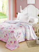 Dngy*Tencel Summer Air Conditioning Quilt Quilt Reactive Printing Summer Cool Quilt Bedding Set