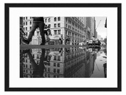 1038_CITY_NIGHT_ IMAGE_REFRACTION - Art Print Wall Solid Wood Framed Picture