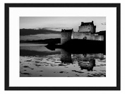 Scottish Castle at Twilight - Art Print Wall Solid Wood Framed Picture