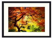 Japanese garden - Solid Wood Picture Frame Art Print