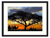 African Sunset - Solid Wood Picture Frame Art Print