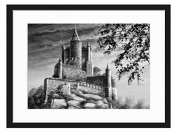 Painting Mediaeval Castle - Art Print Wall Solid Wood Framed Picture