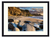 magnificent beach near san diego - Solid Wood Picture Frame Art Print