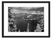 Winter at Lake Tahoe - Art Print Wall Solid Wood Framed Picture