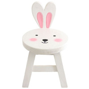 Children - Kids Chic Wooden Stool Solid Pine Bunny Rabbit Seat Step Stool Chair