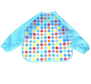 Homgaty Toddler Apron Unisex Baby Waterproof Long Sleeves Bib Eat & Play Smock