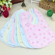 Yuver(TM) Random Colour Random Style Baby Bib Velvet Waterproof Baby Care Feeding Printing Bibs Towel Multi Colour