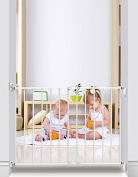 Noma 31246 A Stair Gate Safety Gate Made from Metal Extendible, Wall Mount, Adjustable Width from 62 - 40 cm, White