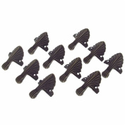 44*32mm Antique Bronze Corner Leggs Pad Edge Pad Decorative With Mounting Screws Pack Of 10