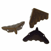 Antique Bronze Iron Desk Edge Cover 32*11mm Corner Protector Pack Of 10