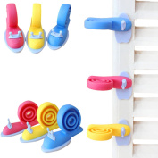 Yuver(TM) 3pcs Random Colour Baby Helper Safety Door Stop Finger Pinch Guard Child Kid Infant Cute Safety Protector Doorway