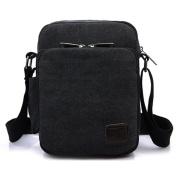 Outreo Men Messenger Bag Vintage Crossbody Small Canvas Shoulder Bag for School Bookbag Tablet Book Retro Satchel Cross Body Work Tool Side Pack