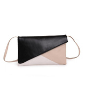 Lady European and American Contrast Colour Package Clutch Messenger Bag Envelope Bag
