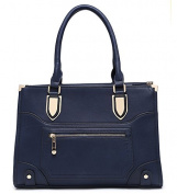 FAUX LEATHER STRUCTURED LADIES TOTE BAG HAND BAG DAY BAG