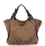 Yisidoo Coloured Cotton Canvas Tote Handbag Cross-Body Bag Casual Shoulder Bag