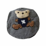 Black Bear Light Pattern Baby Hat with a Teddy Bear / Boys/ Girls/ Hats/ Toddler
