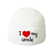 I Love my Uncle White Baby Hat Embroidery Beanie Boys Girls Hats Toddler