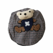 Brown Bear Pattern Baby Hat with a Teddy Bear / Boys/ Girls/ Hats/ Toddler