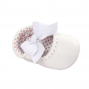 Baby Gril's Princess Crib Shoes Embroidered Love Heart Bow Anti Slip Prewalkers