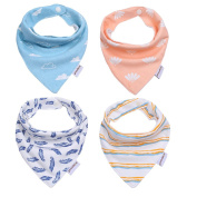 Storeofbaby Baby Bandana Drool Bibs for Boys and Girls with Snaps,Absorbent Cotton