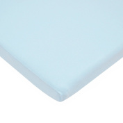 TL Care 100% Cotton Value Jersey Knit Fitted Bassinet Sheet, Blue