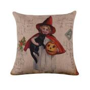 Hatop Halloween Pillow Case Sofa Waist Throw Cushion Cover Home Decor