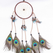 Colorfull Dream Catcher, RIUDA Dream Catcher Circular White Feathers Wall Hanging Decoration Decor Craft