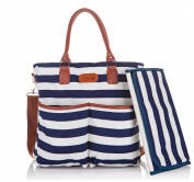 . Baby Nappy Bag - Cotton Messenger Organiser Tote - Change Pad - Kidnid