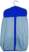 Baby Doll Reversible Nappy Stacker, Light Blue/Royal Blue