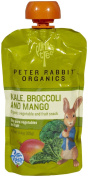 Peter Rabbit Organics - Organic Veg and Fruit Puree 100% Kale, Broccoli and Mango - 130ml pack of 3