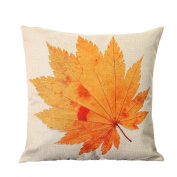 Usstore Pillow Case Cover Pillowslip Maple Leaf Distinctive Perfect Home Decor