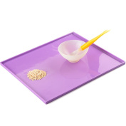 SKK Baby Silicone Baby Placemat FDA Approved Rolled Up For Toddler Kids Purple