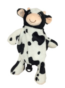 Animal 2 In 1 Backpack Harness and Leash Black and White Cow