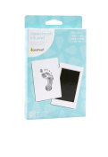 "Pearhead Newborn Handprint or Footprint ""Clean-Touch"" Ink Pad, 2 Uses, Black"