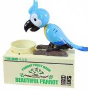 Automatic Funny Cute Parrot Piggy Bank Stealing Coin Home Decor Gift