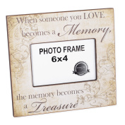 Someone We Love Becomes a Memory Bereavement 4 x 6 Picture Frame Plaque