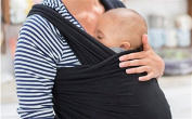 Mom Care Baby wrap The Most Comfortable carrier and the Ultimate Light weight Baby Slings For New Born and 16kg Baby's