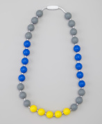 GUMEEZ JUNIOR GAME DAY NECKLACE - BLUE, GREY, YELLOW 3+