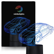 Novelty Gift Night Light SuperCar 7 Colour LED Does Not Get Hot By rainbolights a Great Gift Idea for the boys or Dad