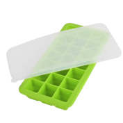 Newcomdigi Upgrade Silicone Baby Food Freezer Tray with Cover 21 Cups Ice Box Ice Mould, Green