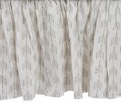Zack & Tara Crib Skirt - Arrows in Grey
