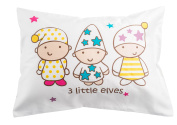 Toddler Travel Pillowcase 100% Softest Cotton Sateen Pillow Case, Covers 33cm x 46cm or 36cm x 48cm , Toddler Baby Travel Pillows Naturally Hypoallergenic-Kids Design- Envelope Style Cases 400 TC