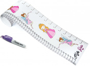 Kids Rule Princess & Fairies Plastic Roll-UP Growth Height Chart. Includes Mini Sharpie Marker Pen, Measures From Birth to Adult. Choice of 2 Designs