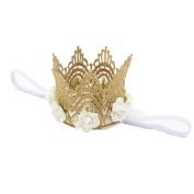 FEITONG 2016 Hot Cute Girl Head Accessories Hairband Baby Hair Band Elastic Flower Crown Headwear